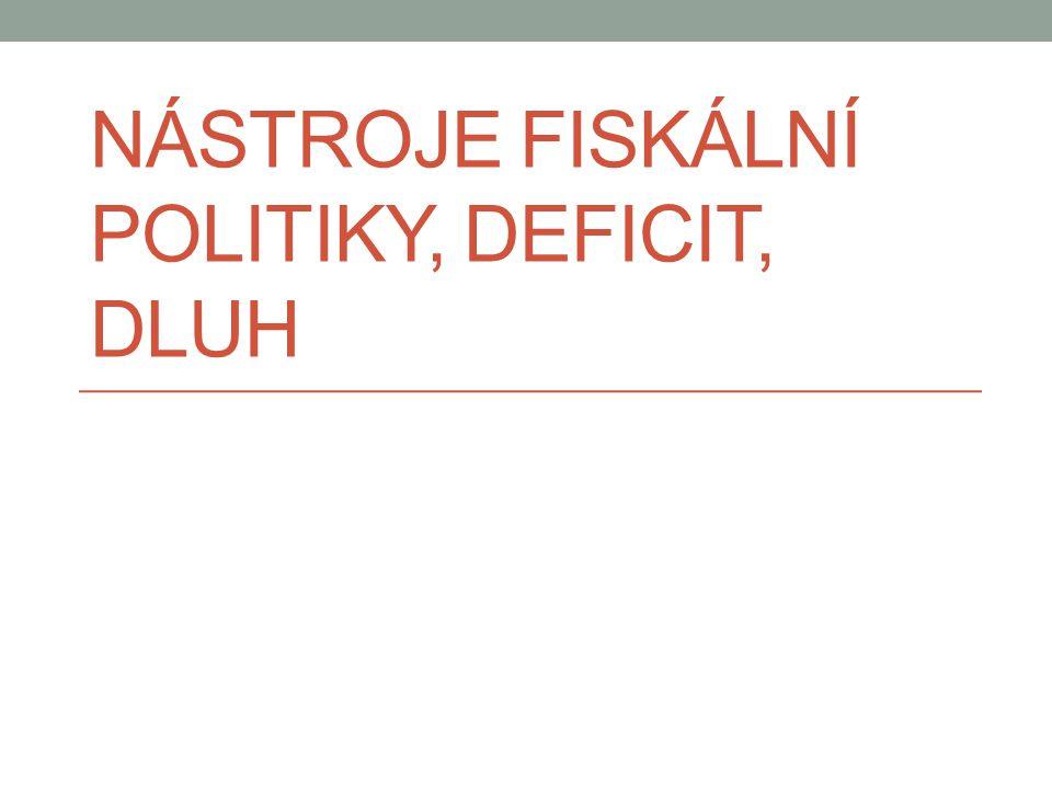 Nástroje fiskální politiky, deficit, dluh