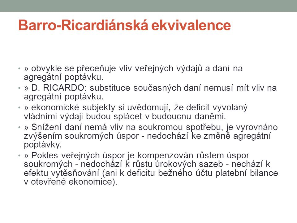 Barro-Ricardiánská ekvivalence