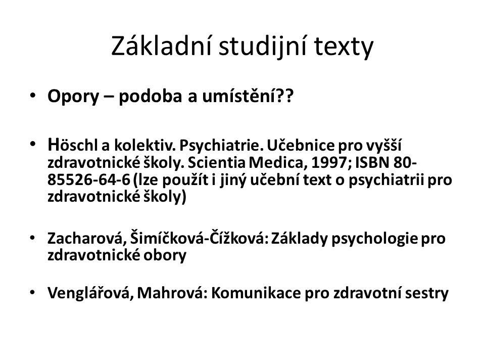 Základní studijní texty
