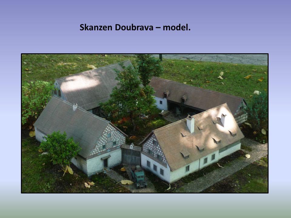 Skanzen Doubrava – model.