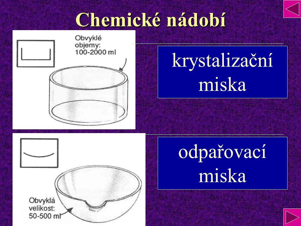 Chemické nádobí krystalizační miska odpařovací miska