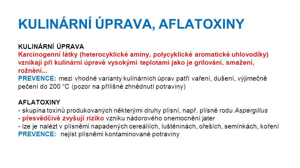 KULINÁRNÍ ÚPRAVA, AFLATOXINY