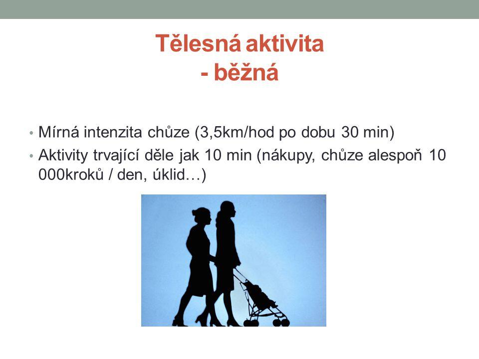 Tělesná aktivita - běžná