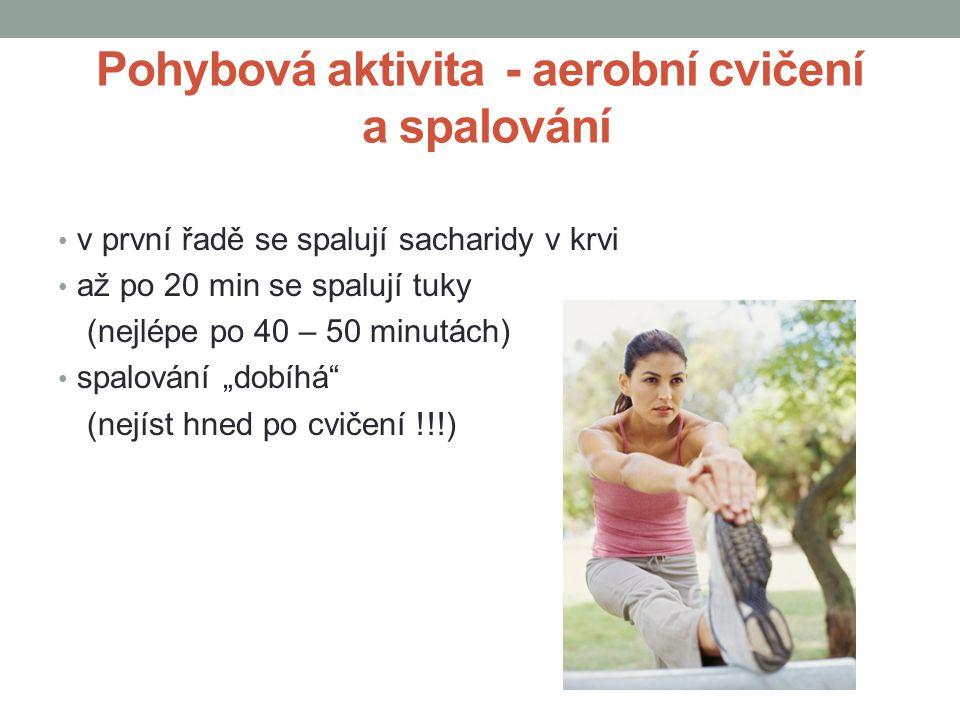 Pohybová aktivita - aerobní cvičení a spalování