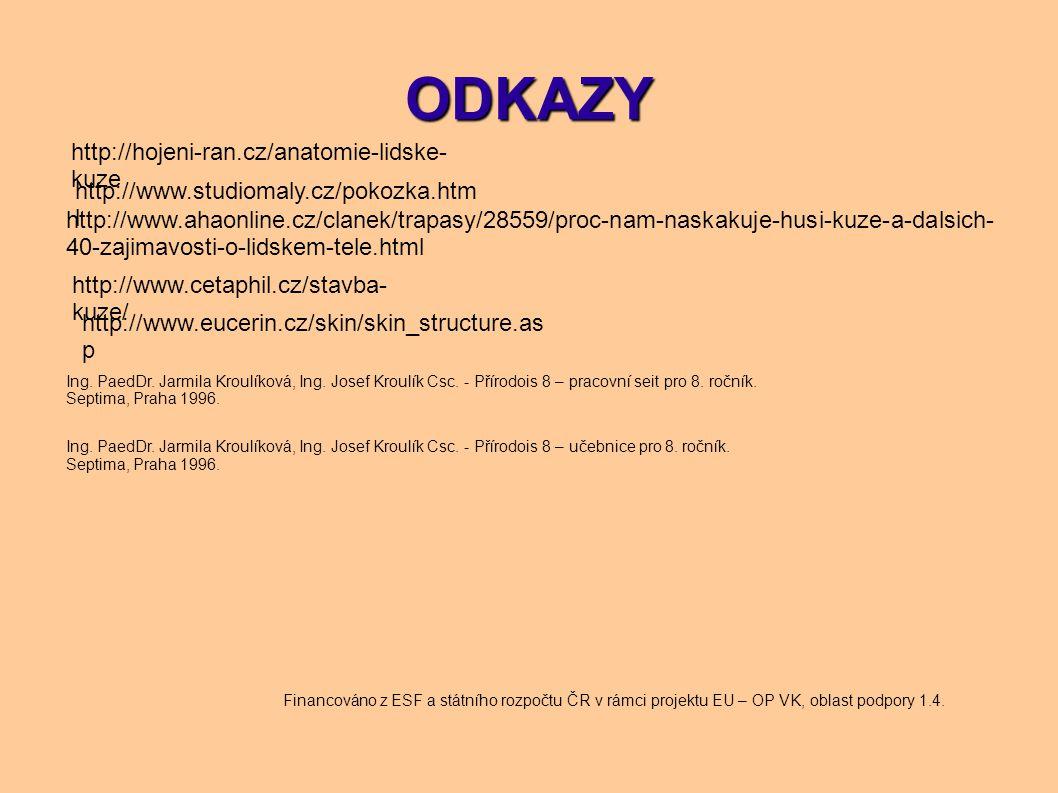 ODKAZY http://hojeni-ran.cz/anatomie-lidske-kuze
