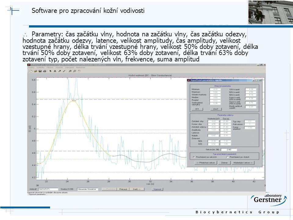 Software pro zpracování kožní vodivosti