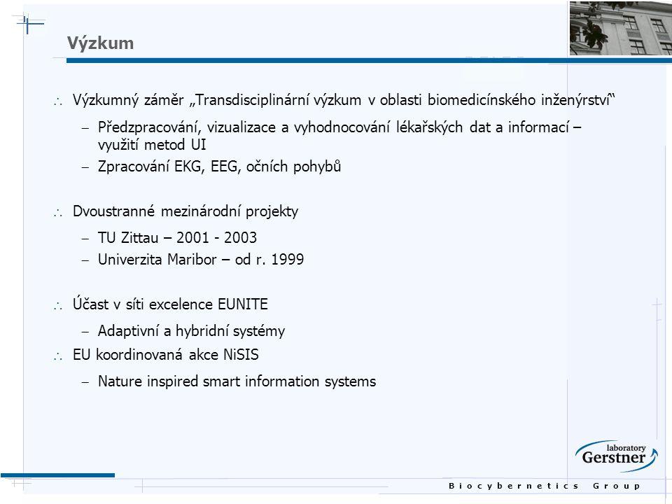 """Výzkum Výzkumný záměr """"Transdisciplinární výzkum v oblasti biomedicínského inženýrství"""