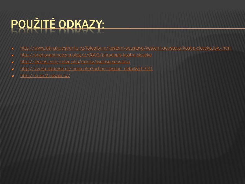 použité odkazy: http://www.latinsky.estranky.cz/fotoalbum/kosterni-soustava/kosterni-soustava/kostra-cloveka.jpg.-.html.