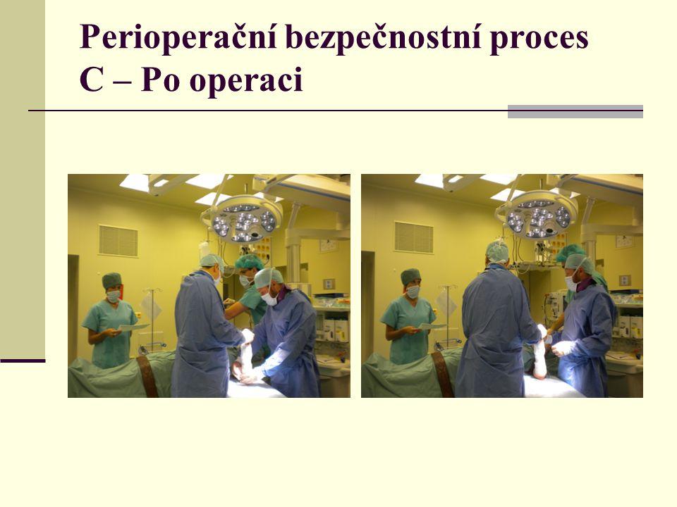 Perioperační bezpečnostní proces C – Po operaci
