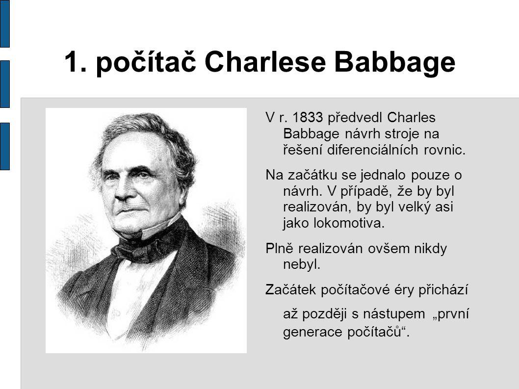 1. počítač Charlese Babbage