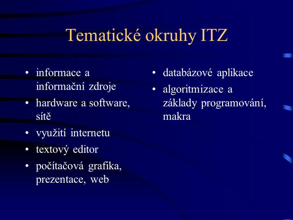 Tematické okruhy ITZ informace a informační zdroje