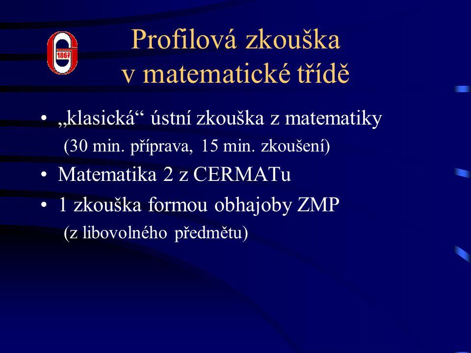Profilová zkouška v matematické třídě
