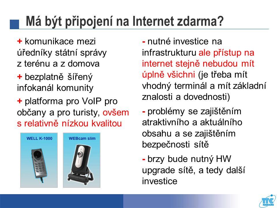 Má být připojení na Internet zdarma