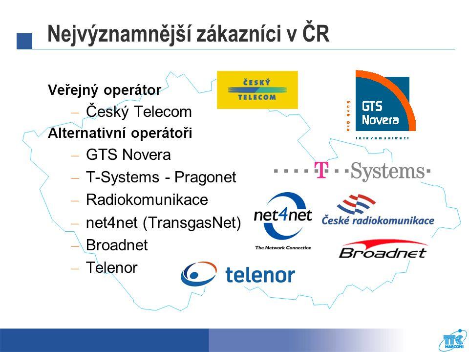 Nejvýznamnější zákazníci v ČR