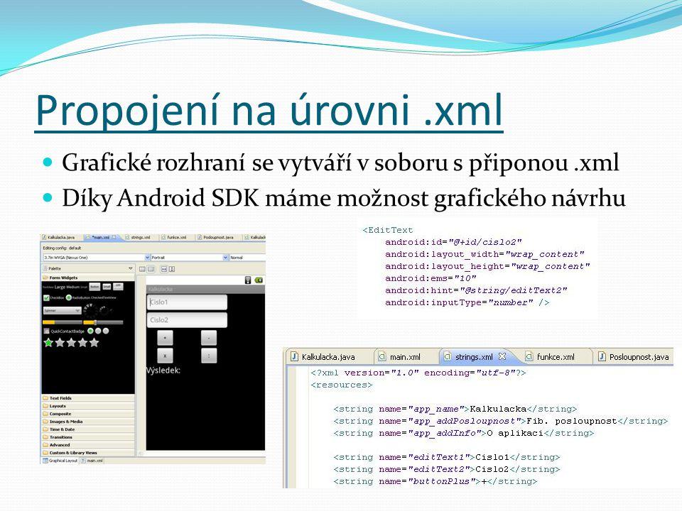 Propojení na úrovni .xml