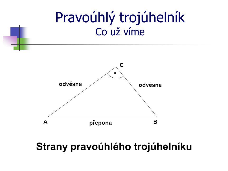 Strany pravoúhlého trojúhelníku