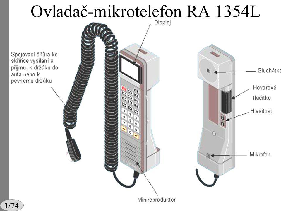 Ovladač-mikrotelefon RA 1354L