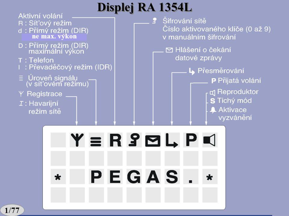 Displej RA 1354L ne max. výkon 1/77