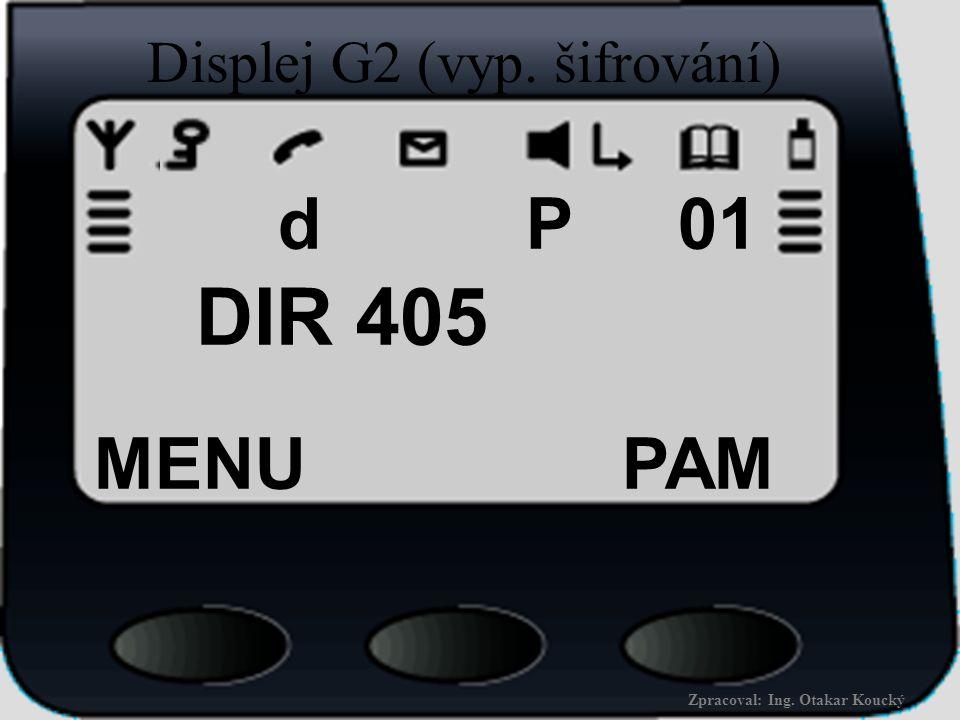 Displej G2 (vyp. šifrování)