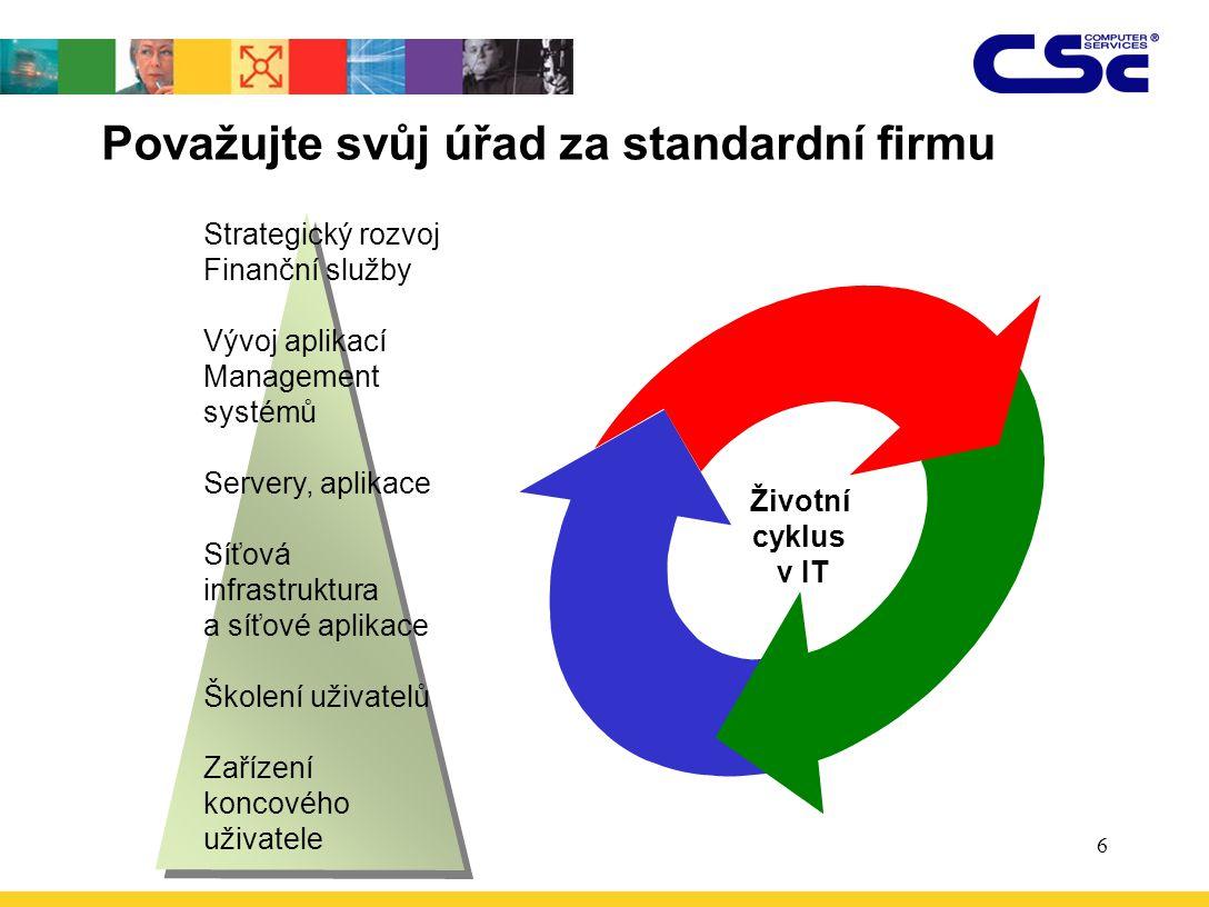 Považujte svůj úřad za standardní firmu