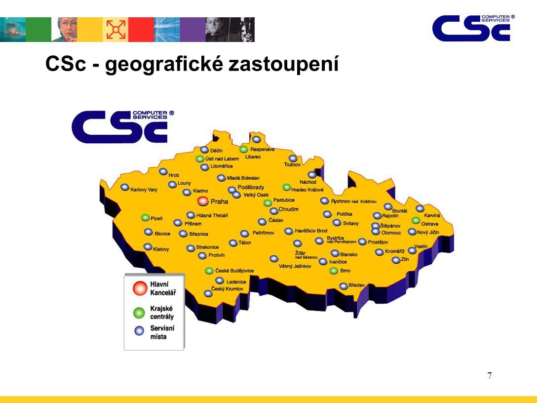 CSc - geografické zastoupení