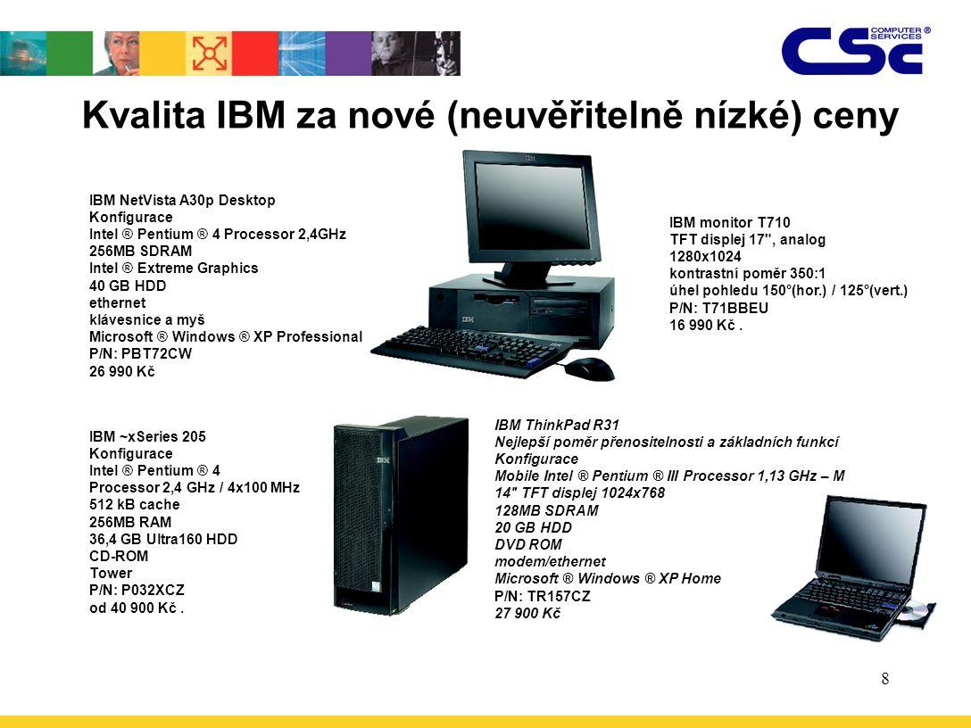 Kvalita IBM za nové (neuvěřitelně nízké) ceny