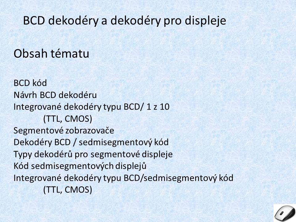 BCD dekodéry a dekodéry pro displeje