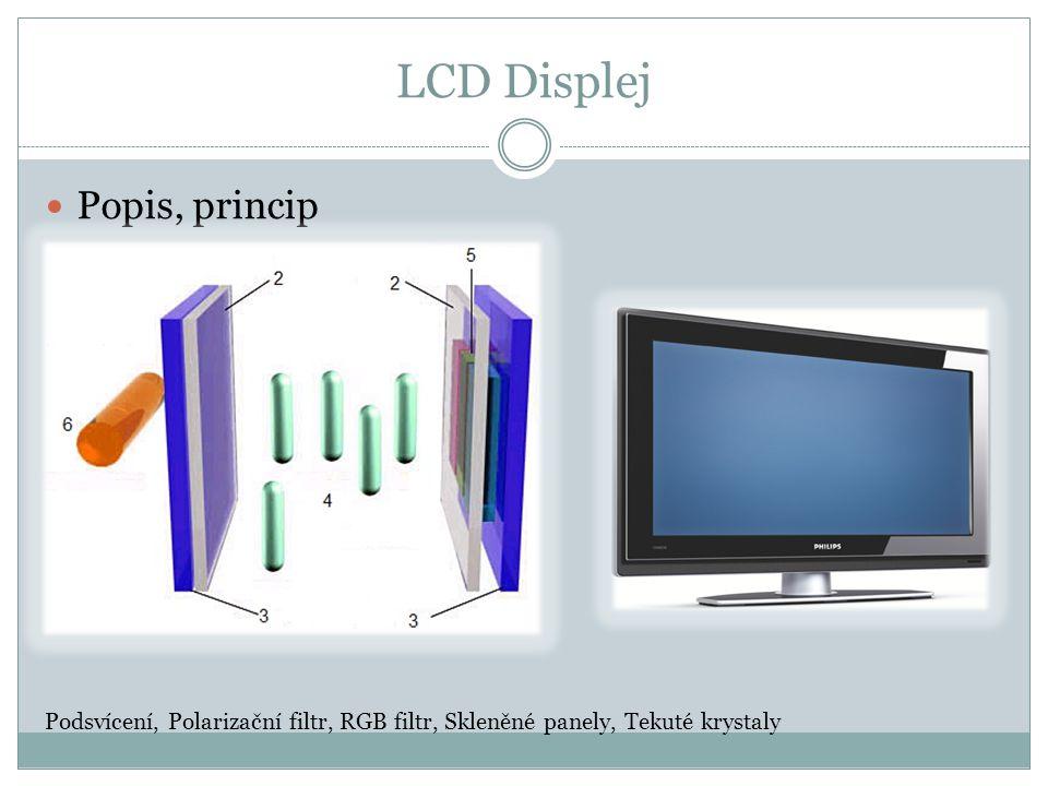 LCD Displej Popis, princip