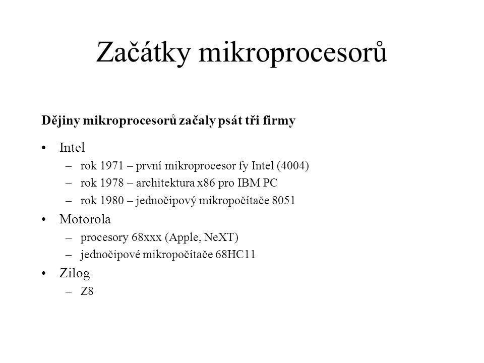 Začátky mikroprocesorů