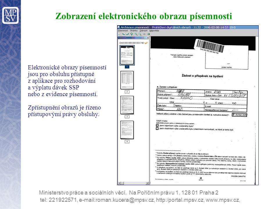Zobrazení elektronického obrazu písemnosti