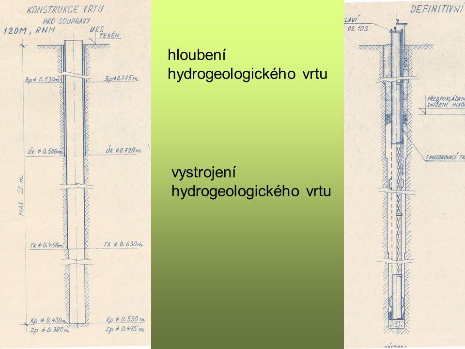 hloubení hydrogeologického vrtu
