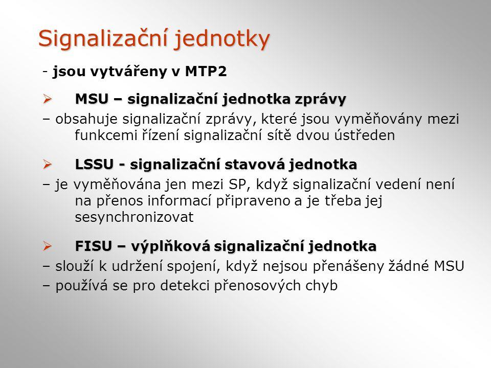 Signalizační jednotky
