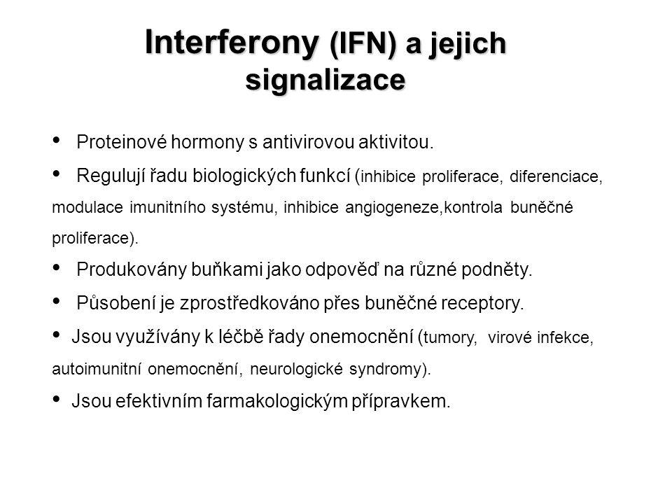 Interferony (IFN) a jejich signalizace