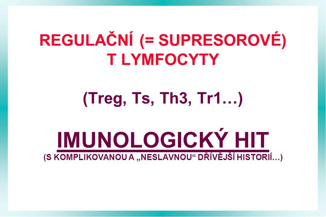 """REGULAČNÍ (= SUPRESOROVÉ) T LYMFOCYTY (Treg, Ts, Th3, Tr1…) IMUNOLOGICKÝ HIT (S KOMPLIKOVANOU A """"NESLAVNOU DŘÍVĚJŠÍ HISTORIÍ…)"""
