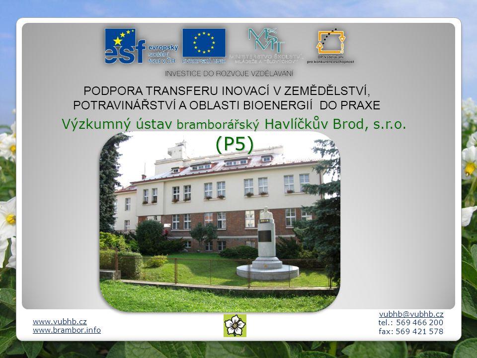 Výzkumný ústav bramborářský Havlíčkův Brod, s.r.o. (P5)