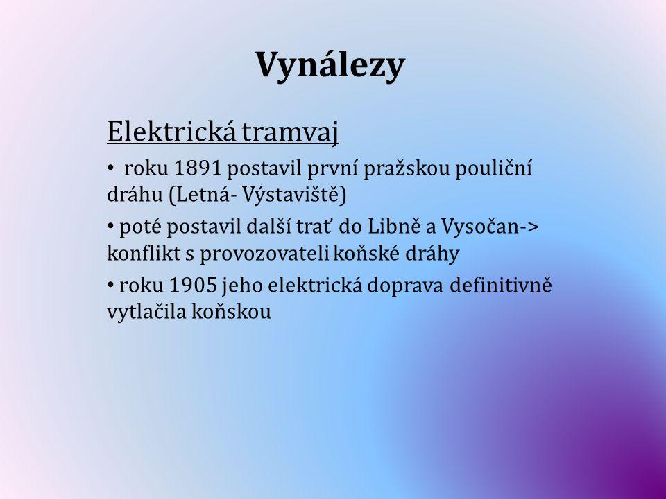 Vynálezy Elektrická tramvaj