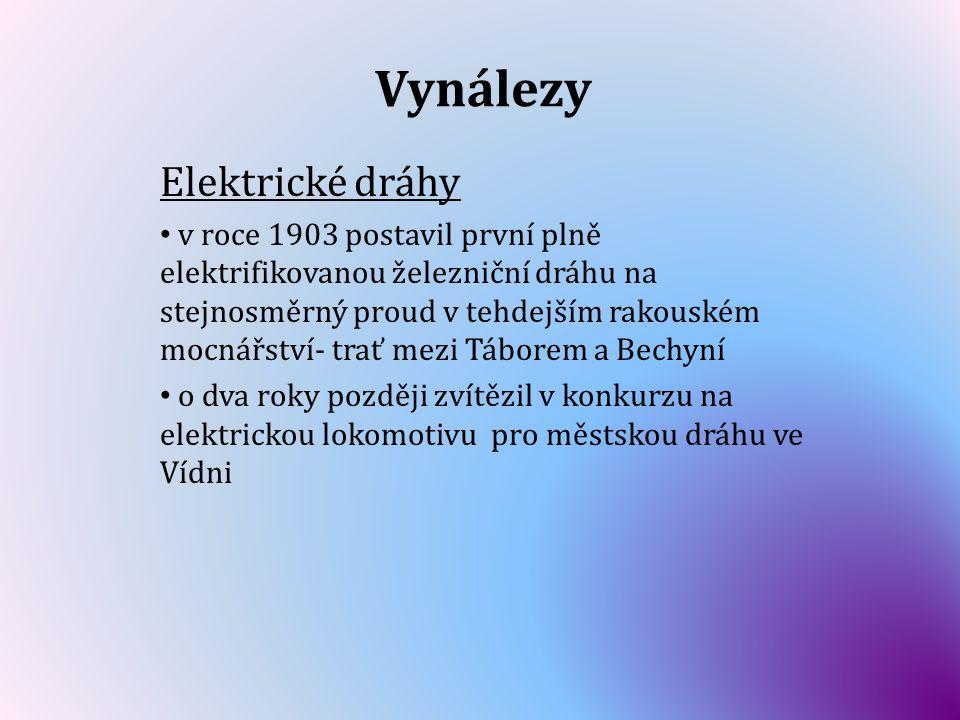 Vynálezy Elektrické dráhy