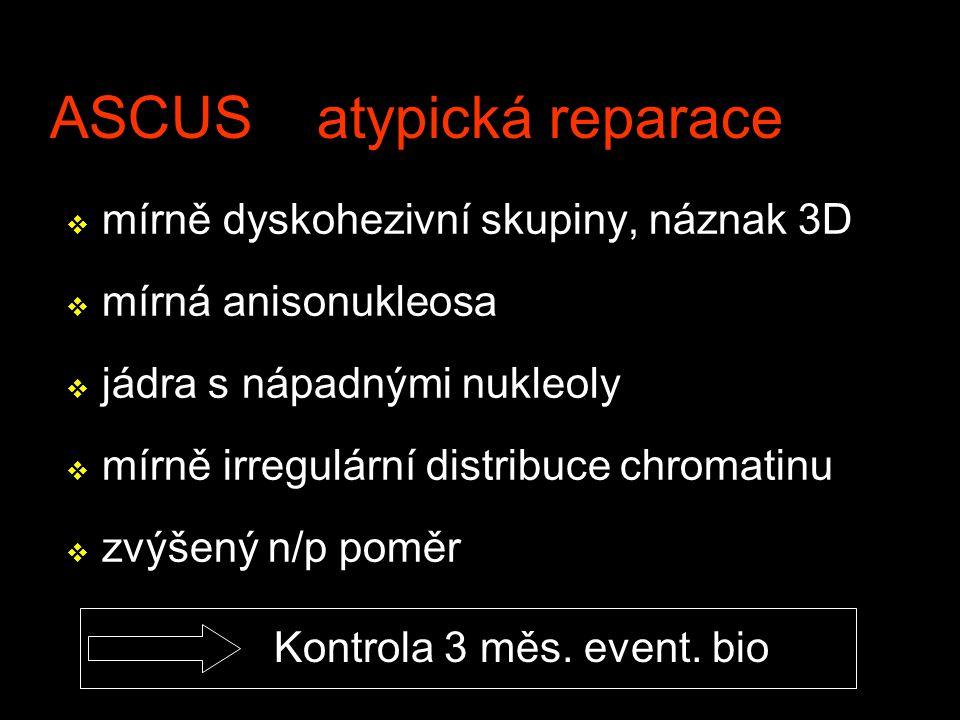 ASCUS atypická reparace