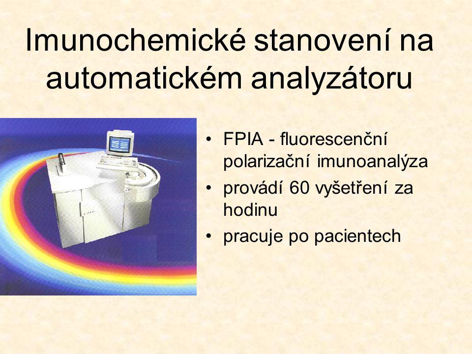 Imunochemické stanovení na automatickém analyzátoru