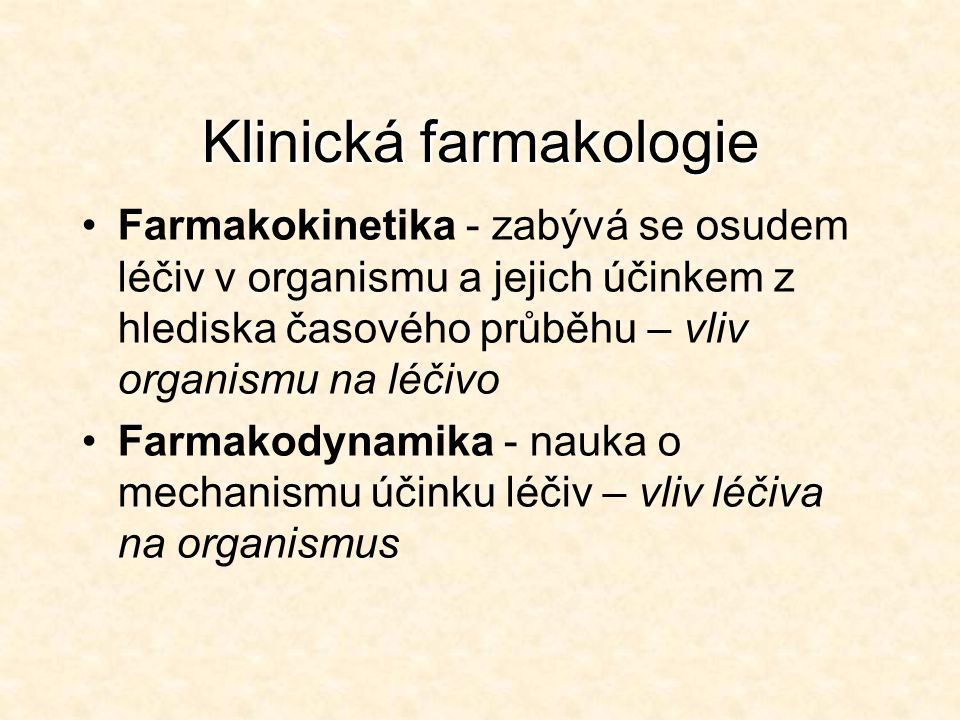 Klinická farmakologie