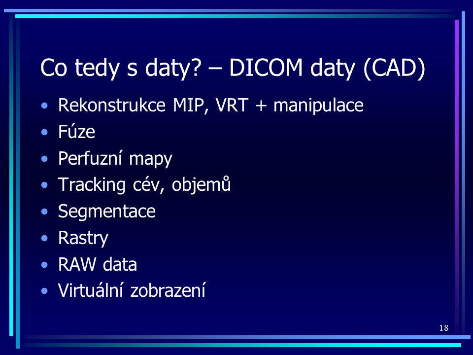 Co tedy s daty – DICOM daty (CAD)
