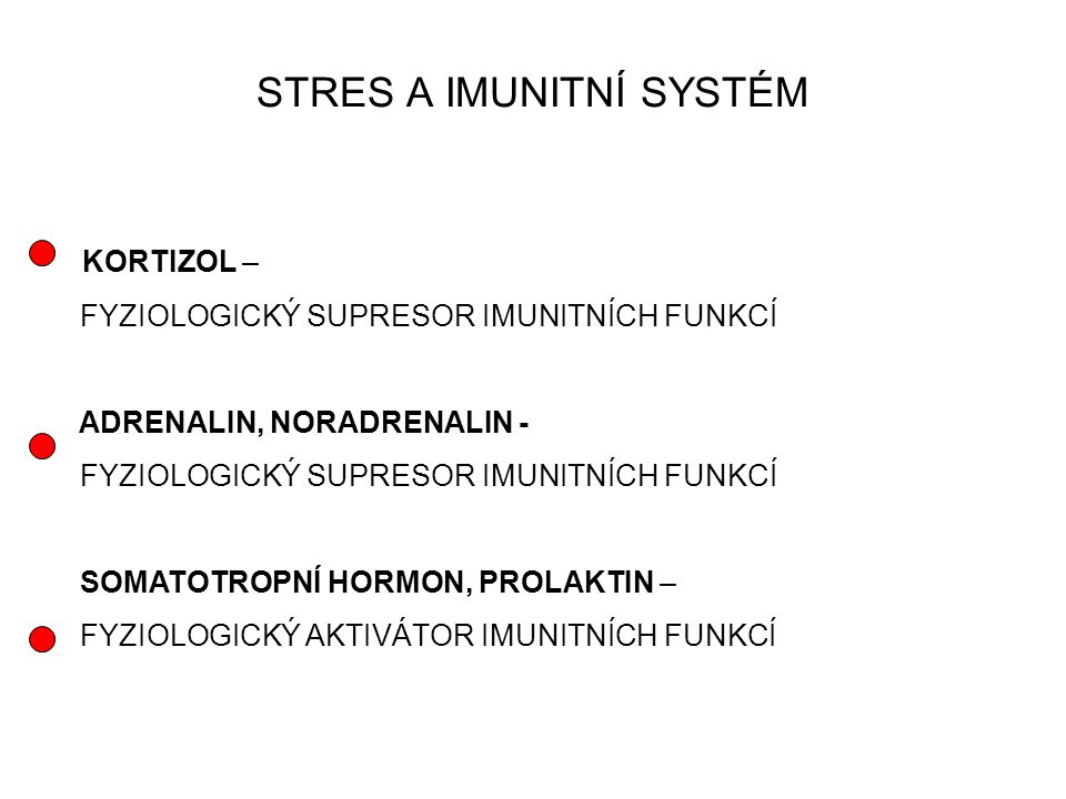 STRES A IMUNITNÍ SYSTÉM