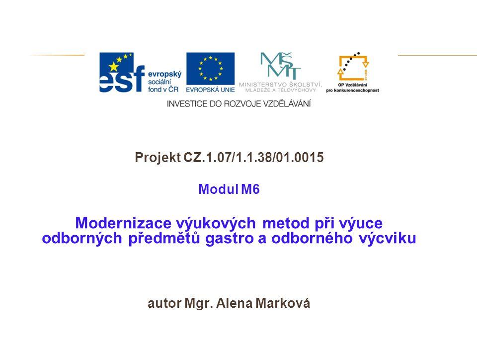 autor Mgr. Alena Marková