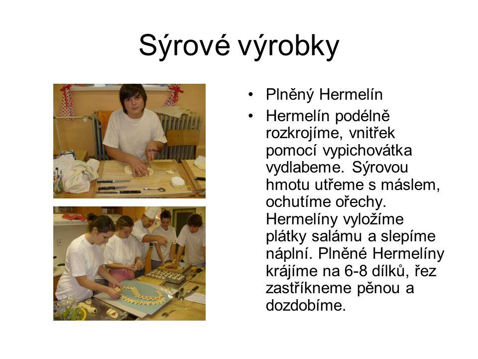Sýrové výrobky Plněný Hermelín