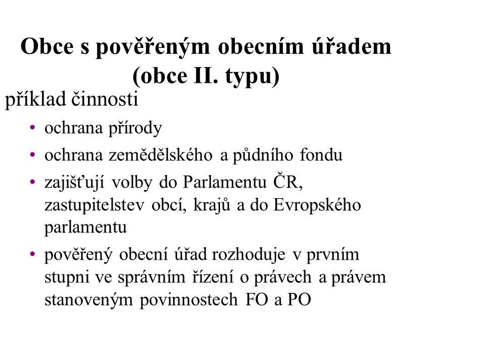 Obce s pověřeným obecním úřadem (obce II. typu)