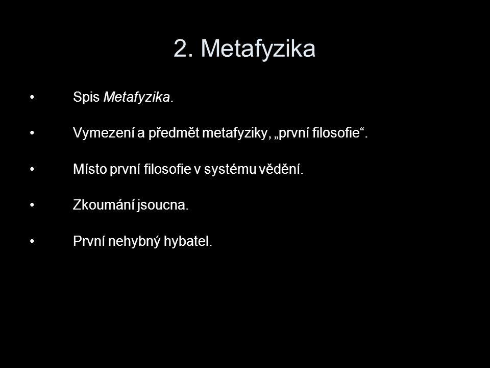 2. Metafyzika Spis Metafyzika.