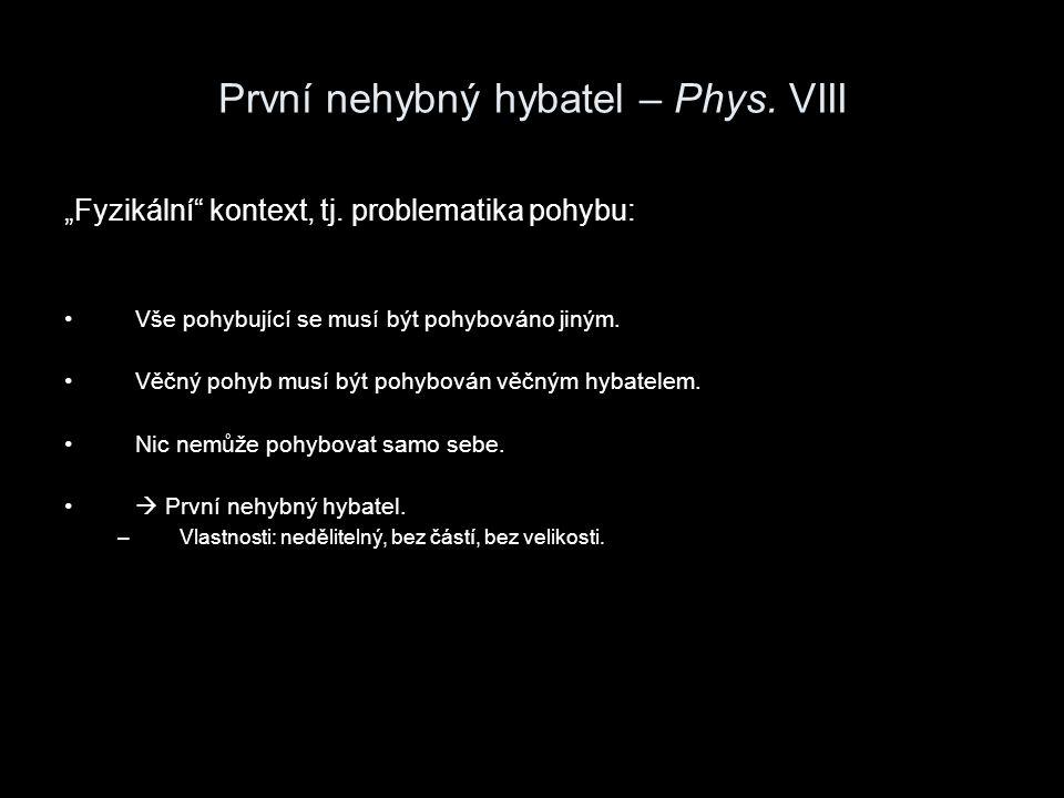 První nehybný hybatel – Phys. VIII