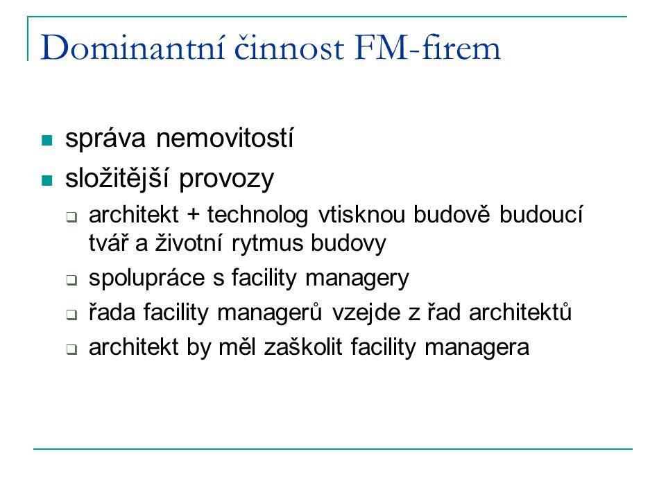 Dominantní činnost FM-firem