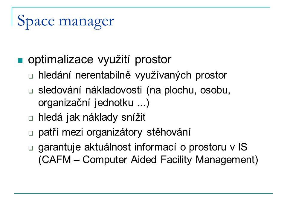 Space manager optimalizace využití prostor