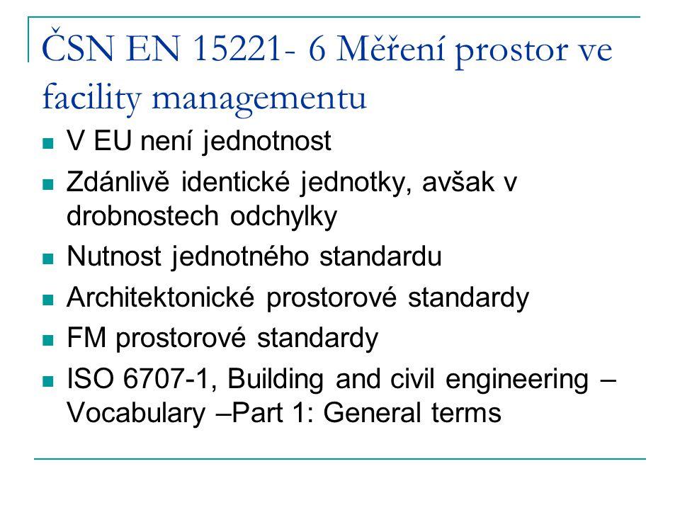 ČSN EN 15221- 6 Měření prostor ve facility managementu